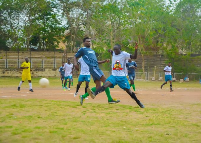 Grassroots players at football championship in Abeokuta